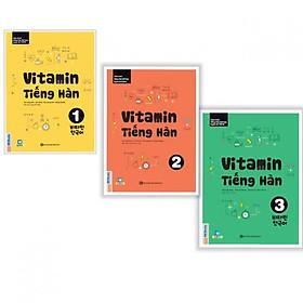 Trọn Bộ 3 Tập Vitamin Tiếng Hàn (Học Kèm App MCBooks Application) (Cào Tem Để Mở Quà Tặng) (Quà Tặng: Bút Blue Đáng Yêu)