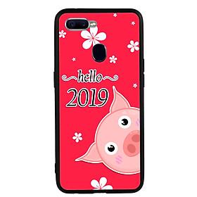 Hình đại diện sản phẩm Ốp lưng nhựa cứng viền dẻo TPU cho điện thoại Oppo F9 - Pig 2019 Mẫu 2