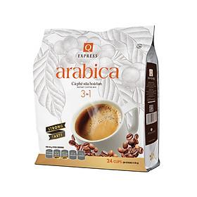 Cà phê hòa tan 3 in 1 Q Express Arabica Đậm Vị (24 sticks x 20g) Trần Quang