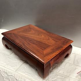 Đôn kê tượng gỗ hương hình chữ nhật , kê lục bình , kê đồ phong thuỷ,bàn o xin mini