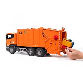 Đồ chơi dạng mô hình BRUDER theo tỷ lệ thu nhỏ 1:16 Xe rác Scania BRU03560
