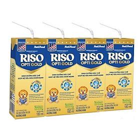 3 Thùng Sữa Bột Pha Sẵn Nuti RISO OPTI GOLD 180ml - Dành cho trẻ từ 1 tuổi trở lên (48 Hộp x 180ml)