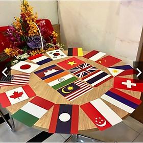 100 thẻ FLASHCARD cờ các nước nổi tiếng trên thế giới kèm vị trí địa lý_Dạy Trẻ Thông Minh Sớm Theo Glenn Doman