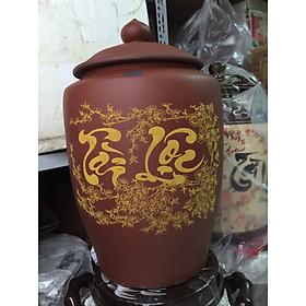 Hũ đựng gạo 10kg gốm sứ Bát Tràng