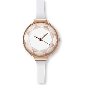 Đồng hồ nữ thời trang dây cao su cao cấp, mặt giọt nước Geneva PKHRGE080 (đường kính mặt: 30 mm)