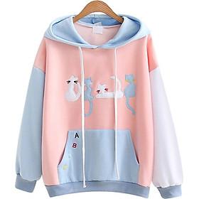 Áo Khoác Hoodie Nữ Mèo Xinh 519 (Màu Ngẫu Nhiên)