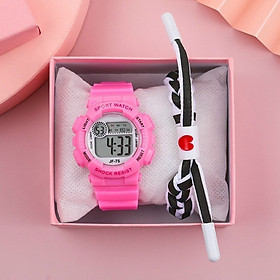 Đồng hồ điện tử nam nữ mặt tròn dây silicon by6x