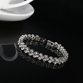 Rhinestone Diamond Crystal Hand Chain Bracelet Jewelry Decor For Lady Exquisite