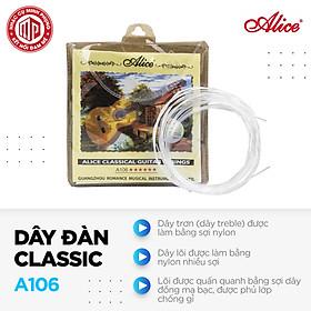 Bộ dây đàn guitar classic cao cấp Alice A106 - Hàng nguyên hộp - Hàng chính hãng