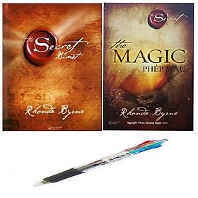 Combo Bí mật The secret +The Magic Phép màu ( Tặng kèm 1 chiếc bút bi 4 màu siêu đẹp )
