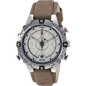 Đồng Hồ Nam Timex Intelligent Quartz T2N721 Kèm La Bàn Với Dây Nâu