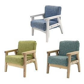 3 Pieces Handcrafted Mini Single Sofa 1:12 Doll House Furniture Decorative