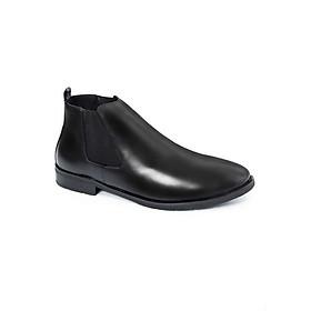Giày Bốt Nam Cổ Cao Kiểu Dáng Chelsea Boot Smartmen GD-333 - Đen