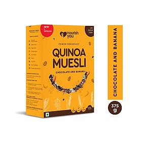 Ngũ cốc diêm mạch Vị Socola và Chuối Quinoa Muesli - Chocolate & Banana Nourish You Hộp 375g