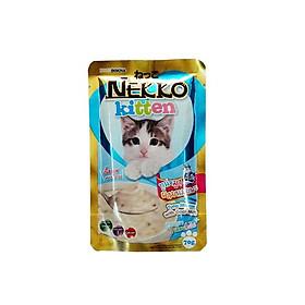 Pate Nekko cho mèo con gói 70g - Cá ngừ, sữa dê