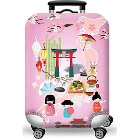 Túi bọc bảo vệ vali -Áo vỏ bọc vali - Du Lịch Nhật Bản