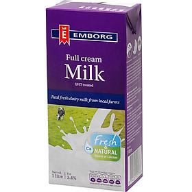 Sữa Tươi Nguyên Chất Tiệt Trùng Nguyên Kem Không Đường Emborg (1L)