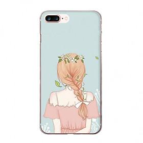 Ốp lưng cho iPhone 8 Plus  PHÍA SAU MỘT CÔ GÁI_1 in theo chất liệu
