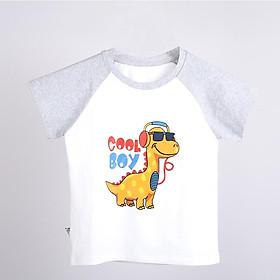 Áo thun bé trai bé gái BabyloveGo in hình khủng long chất liệu cotton sợi thoáng mát - KL001
