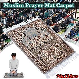 3 Types Muslim Prayer Mat Rug Tassel Carpet Salat Namaz Islamic Arabian Style 70x110cm