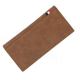 Ví cầm tay nam nữ da Pu chống nước, logo dập nổi có ngăn kéo khóa phong cách lịch lãm, ví dài nhiều ngăn đựng thẻ