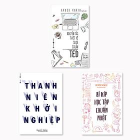 Combo 3 cuốn: Bí Kíp Học Tập Chuẩn Nhật  + Thanh Niên Khởi Nghiệp + Nguyên Tắc Thiết Kế Slide Chuẩn Ted