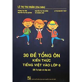 30 Đề Tổng Ôn Kiến Thức Tiếng Việt Vào Lớp 6