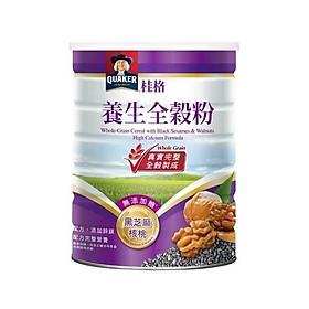 Bột ngũ cốc mix hạch đào - mè đen dinh dưỡng Quaker 600g/ hộp (x2)