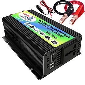 Bộ kích điện ô tô sin chuẩn đỉnh 3000W chuyển đổi dòng điện DC 12V thành AC 220V