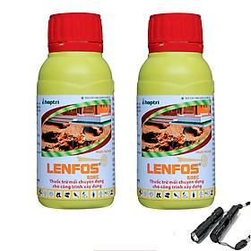 Bộ 2 lọ Thuốc diệt mối Lenfos 50EC 100ml + tặng đèn pin chống nước