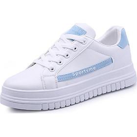 Giày nữ, Giày sneaker nữ mẫu mới BAZAS BZ802TXNN Trắng Phối Xanh