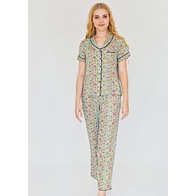 Đồ mặc nhà Bộ dài nữ ngắn tay Tvm Luxury Homewear B522