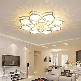 Đèn chùm pha lê phòng khách, đèn mâm ốp trần trang trí - OPLADY098