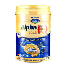 HỘP SỮA BỘT VINAMILK DIELAC ALPHA GOLD IQ 2 900G (CHO TRẺ TỪ 6 - 12 THÁNG TUỔI)