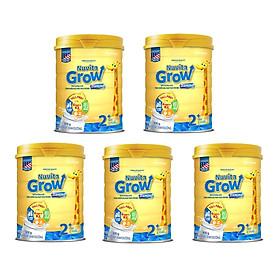 Bộ 5 Lon Sữa Nuvita Grow Diamond 2+ 900g (trẻ từ 2 tuổi trở lên)