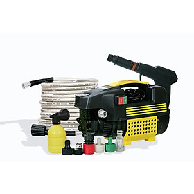 Máy rửa xe áp lực cao tự hút nước, dây đồng, tặng kèm bình xịt xà phòng, công suất 1800w