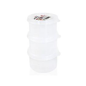 Hộp nhựa đựng thực phẩm Nakaya 180mlx3