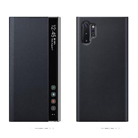 Bao da Clear View cho Samsung Galaxy note 10 plus đen  - hàng nhập khẩu