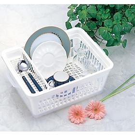 Hình đại diện sản phẩm Bộ 3 khay úp chén đĩa có nắp chống bám bụi - Hàng nội địa Nhật