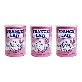 Bộ 3 Lon Sữa bột France Lait số 1 (900g) - Dinh dưỡng cho trẻ từ 0 -6 tháng tuổi.