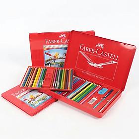 Bộ màu chì nước Faber Castell HongKong hộp thiếc kèm quà tặng
