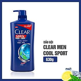 Dầu Gội Sạch Gàu Clear Men Cool Sport Bạc Hà 630g