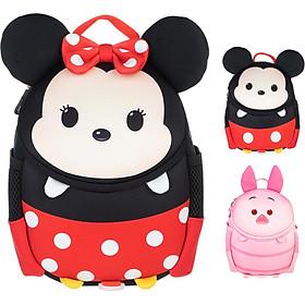 Disney Kindergarten Schoolbag Baby Child Bags Boy and Girl Preschool Cute Cartoon Baby Bag Diving Fabric Minnie
