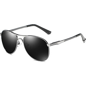 Molong Polarized pilot sunglasses driver driving driving big box sunglasses frog mirror men's fashion trend glasses M8722 black gold black gray tablets