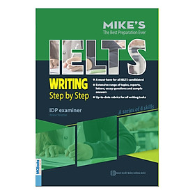 Ielts Writing Step By Step ( Bộ Sách Ielts Mike ) tặng bookmark