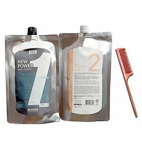 Thuốc Ép thẳng chiết xuất từ thảo dược ( Hàn Quốc) mugens power magic straight/ Mugens neutralizer (cream) 2 x 500g + Lược