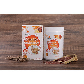 Bột ngũ cốc hỗ trợ giảm cân Quê Việt Hộp 500 Gr
