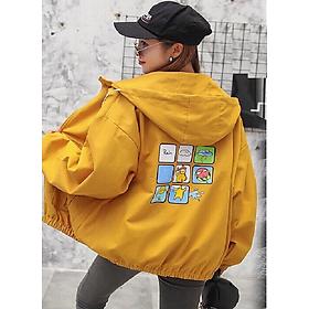 Áo khoác dù nữ túi hộp