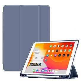 Bao Da iPad 10.5 - iPad 9.7 - iPad Air 1/2/3 - iPad Mini 4/5 - iPad 8 gen - iPad Gen 5/6/7Chức năng đánh thức và ngủ tự động với khay đựng bút
