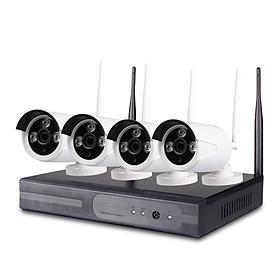 Bộ Camera IP Wifi Không Dây NVR Kit 4 Kênh 1.0MP